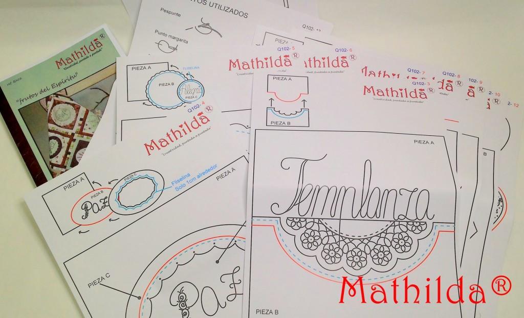 Patrones quilt frutos Patchwork Mathilda