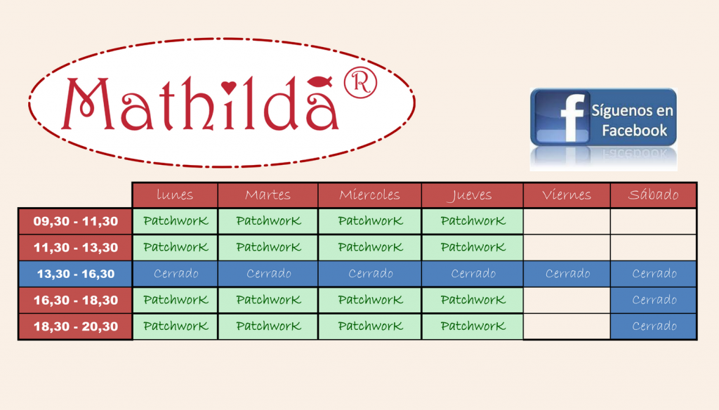 Mathilda clases Patchwork en Cordoba