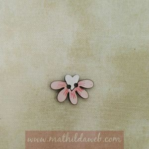 MATHILDA® Botón media margarita color rosa