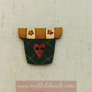 MATHILDA® MYRB0133 boton maceta verde