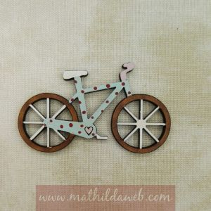 MATHILDA® MYRB0168 boton bicicleta lunares