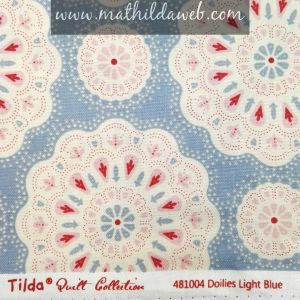 Tela TILDA® Doilies Light Blue
