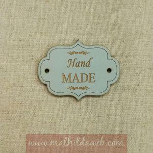 MATHILDA® ARTE001-AZ etiqueta hand made azul