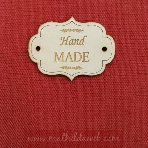 MATHILDA® ARTE001-LIN etiqueta hand made color lino