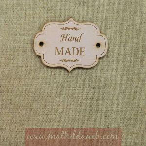 MATHILDA® ARTE001-RO etiqueta hand made rosa