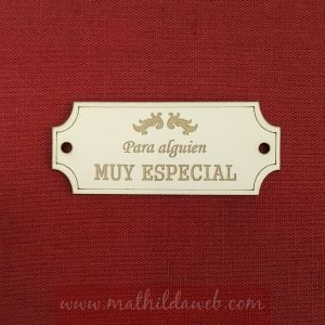 MATHILDA® ARTE011-AM etiqueta para alguien muy especial
